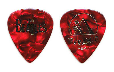 Cheap Trick Tom Petersson Beatles Red Pearl Guitar Pick - 2009 Tour