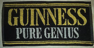 Guinness Pure Genius Bar Towel Beer Cloth Mancave Pub