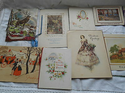 Vintage Christmas Cards Collection c1930's - 1940's Large Collection 29 items