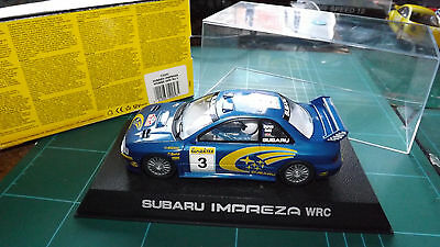 SCALEXTRIC SUBARU Analogue Car With Lights - Boxed !