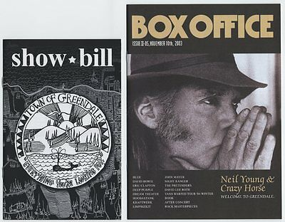 Neil Young - Greendale JAPAN SHOWBILL with ADVERTISING BOOKLET