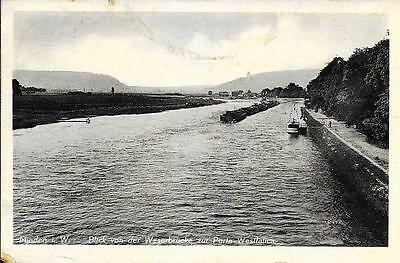 Minden - View of Weser Bridge - Germany- - Posted Postcard .
