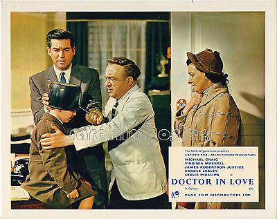DOCTOR IN LOVE 1960 Michael Craig, Reginald Beckwith UK 10x8 LOBBY CARD #5
