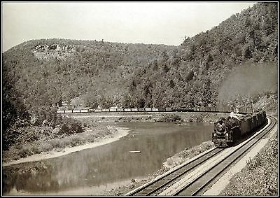 Erie Freight Along The Delaware Vintage Train Print