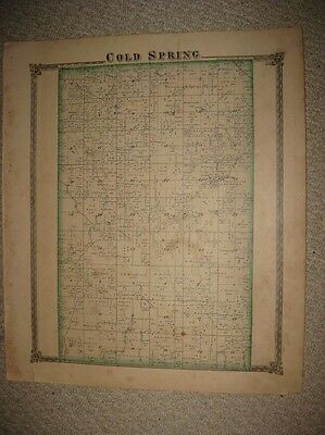 Antique 1875 Cold Spring Ridge Township Williamsburg Shelby County Illinois Map