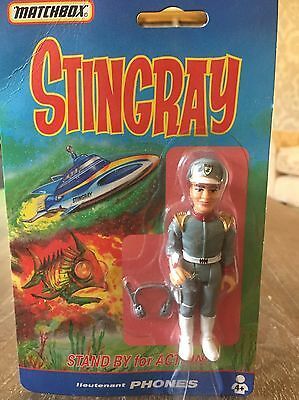 Stingray Gerry Anderson Matchbox Mint In Packet Very Rare Lieutenant Phones Xmas