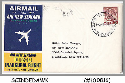 AUSTRALIA - 1965 AIR NEW ZEALAND SYDNEY to CHRISTCHURCH - FIRST FLIGHT COVER FFC
