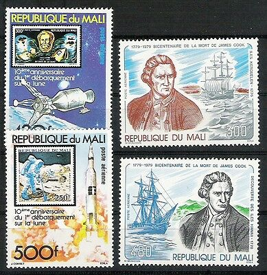 MALI lot #7 2 paires Espace Cook N** Space and Cook pairs MNH bonne côte