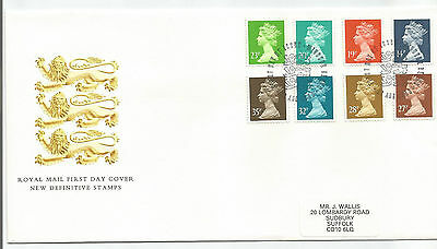 Gb Fdc 1988 New Definitive Values