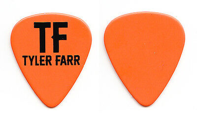 Tyler Farr Orange Guitar Pick - 2015 Tour