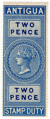 (I.B) Antigua Revenue : Duty Stamp 2d