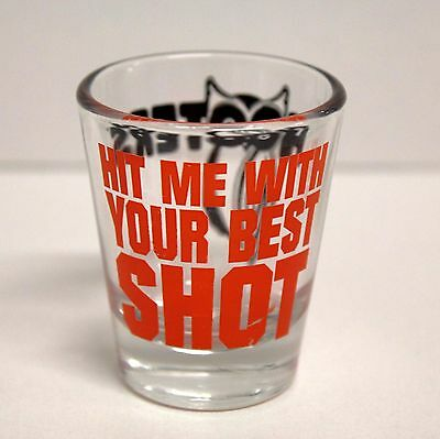 Hooters Resturant - Shot Glass - Hit Me With Your Best Shot