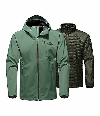 The North Face Men's THERMOBALL TRICLIMATE 3-in-1 Insulated Jacket Duck Green M