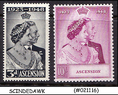 Ascension - 1948 Kgvi Silver Wedding - 2V - Mint Hinged