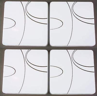 Corning SIMPLE LINES Set Of 4 Square Stove Covers 6522727