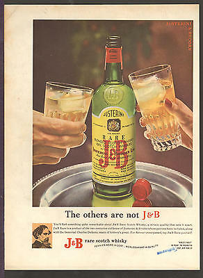 J&B Scotch Whiskey DEC 1963 THE OTHERS ARE NOT Original Print Ad