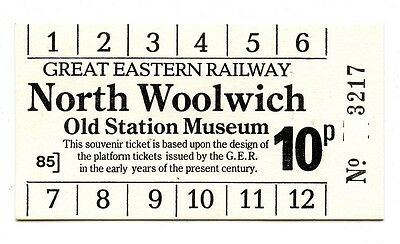 North Woolwich Old Station Museum: Souvenir Platform Ticket, Great Eastern Rly.