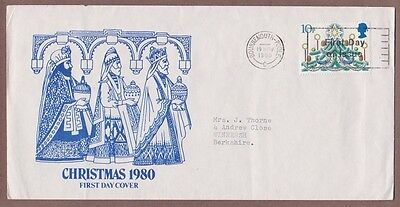 UK # 928 , 1980 Christmas FDC to Berkshire - I Combine S/H