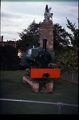 35Mm Colour Slide Preserved Narrow Gauge Steam Loco On Plinth On Display ?