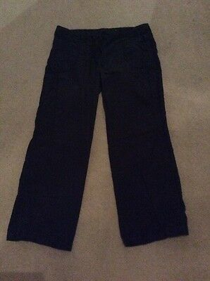 black ladies Marks And Spencer combat Cargo trousers. size 18