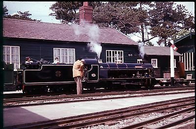 35Mm Colour Slide Preserved Narrow Gauge Steam Loco Black Livery Side On View