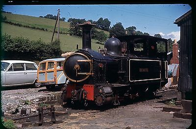 35Mm Colour Slide Preserved Narrow Gauge Steam Loco The Countess On Shed Black