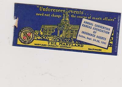 The Maryland-Baltimore Matchbook Cover Free Shipping U.s