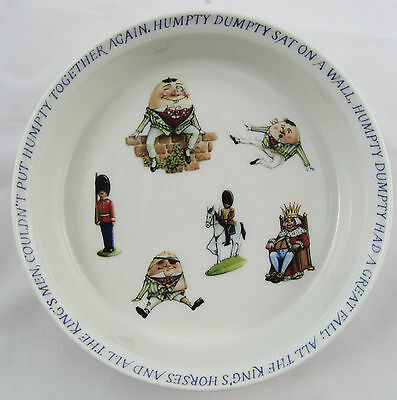 Queen's China Nursery Rhyme Humpty Dumpty Child's Bowl QUEENS of INDIA