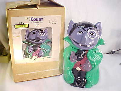 Mint In Box Rare Sesame Street Cookie Jar The Count  #975 Jim Henson MIB