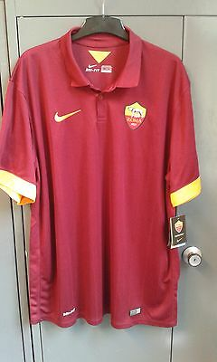 AS Roma Home Short Sleeve Shirt 2014/15 BNWT XXL 2XL Italy Nike