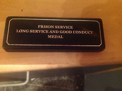 Prison Service Medal.for Long Service & good conduct & exemplary service.cased
