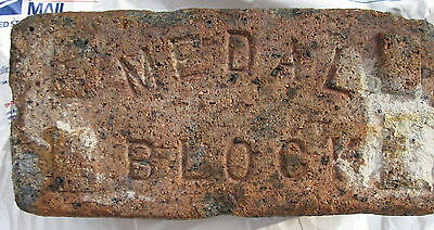 Antique Brick Vintage reclaimed FACE MEDAL BLOCK MC Cleveland,Ohio 1880-1930 (1)