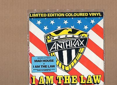 """Anthrax (Live/limited Edition Coloured Vinyl- Red) """"7"""" Single"""