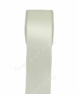 "10y 18mm 3/4"" Antique White Double Sided Faced Satin Ribbon Gift Eco FREE PP"