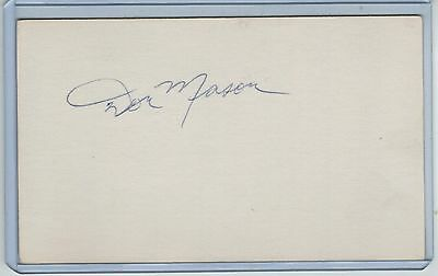 Don Mason Index Card Signed 1966-73 Giants Padres Psa/dna Certified