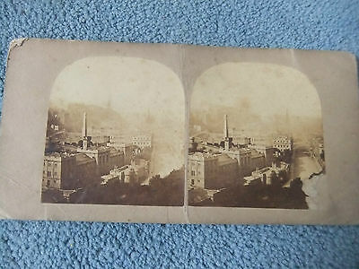 Early 1890's  Stereoview card of Edinburgh from Calton Hill