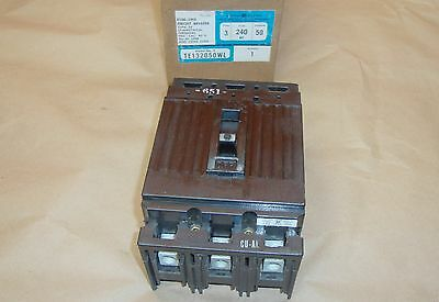 NEW GE General Electric TE132050WL Circuit Breaker 50 Amp 3 Pole 240 Volt E100