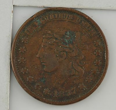 1837 Hard Times Token Millions For Defense/Not One Cent For Tribute *4315