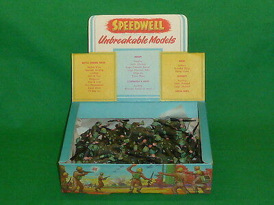 speedwell plastic toy soldiers 54mm x 48 boxed WW2 infantry troops lying