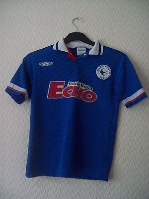 Cardiff City Home Shirt  - Boys Size L - 32 inch Chest