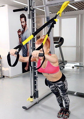 Suspension Trainer Straps Kit Home GYM Training MMA Workout Bodyweight System