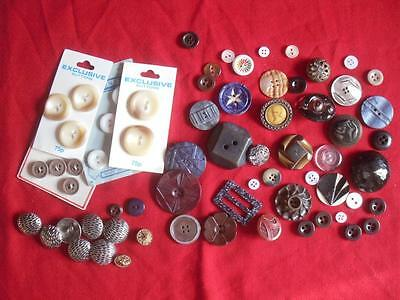 Mixed Collection of Vintage Buttons