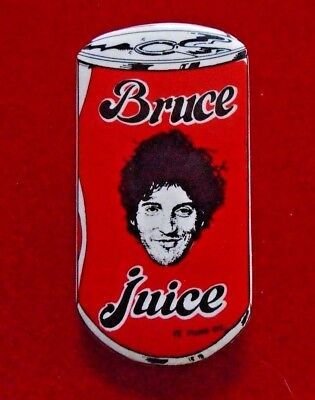 Bruce Springsteen / Bruce Juice / Pin,Badge / Exc. new cond. / 1 1/4 x 2 1/4""