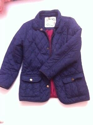 girls navy quilted riding style jacket age 10