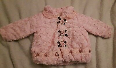 Gorgeous baby girl's faux fur jacket age 1year**BNWT **