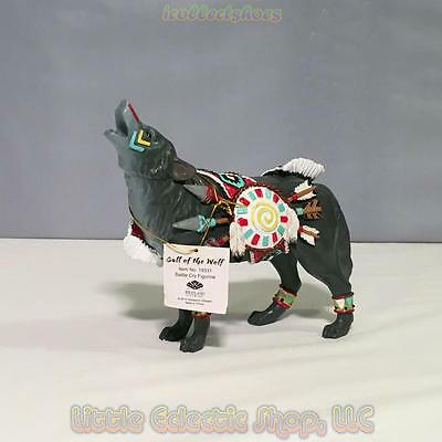 Call of the Wolf 19331 BATTLE CRY 5 inch Resin Standing Figurine New in Gift Box