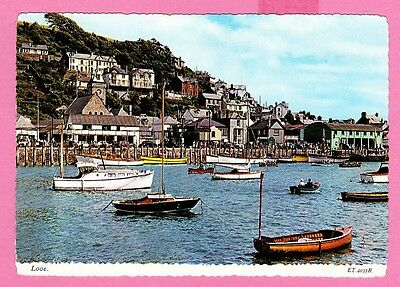 Dated 1971. The Harbour, Looe, Cornwall