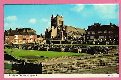 Two unposted cards. St. Hilda's Church and Sea Front, Hartlepool, Durham