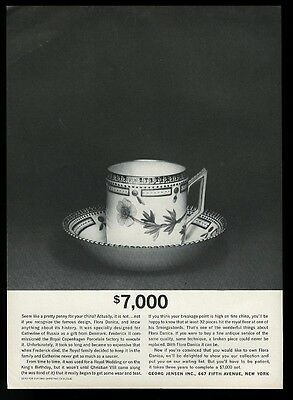1961 Georg Jensen Flora Danica china cup and bowl photo vintage print ad