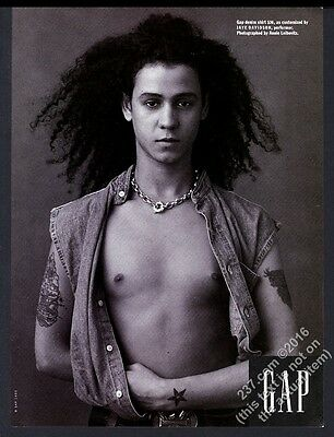 1993 Jaye Davidson photo The Gap fashion clothes store vintage print ad
